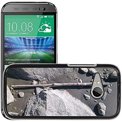 Etui Housse Coque de Protection Cover Rigide pour // M00310241 Planta Piedras Banco Piedra Natural // HTC One Mini 2 / M8 MINI / (Not Fits M8)