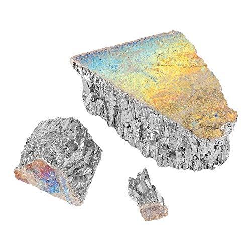 Wismut - 1000g Bismut Metal Barren Chunk 99,99{a17c053185104bc466753c297f890a5cc8b7ba369e67579071935f716d17ca20} reine Kristallgeoden für die Herstellung von Kristallen/Angelköder