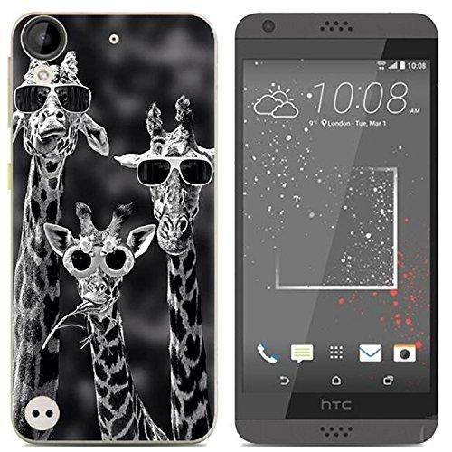 Yrlehoo Für HTC Desire 650, Premium softe Silikon Schutzhülle für HTC Desire 650 Tasche Case Cover Hülle Etui Schutz Protect, Giraffe