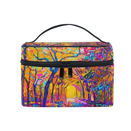 ALAZA Sac cosmétique automne coloré arbre maquillage Voyage cas de stockage Organisateur