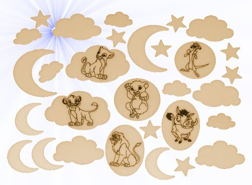 in the Dark Sticker - Disney König der Löwen - leuchtet im Dunklen Glow Tiere (Nacht König)