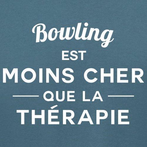 Bowling est moins cher que la thérapie - Femme T-Shirt - 14 couleur Bleu