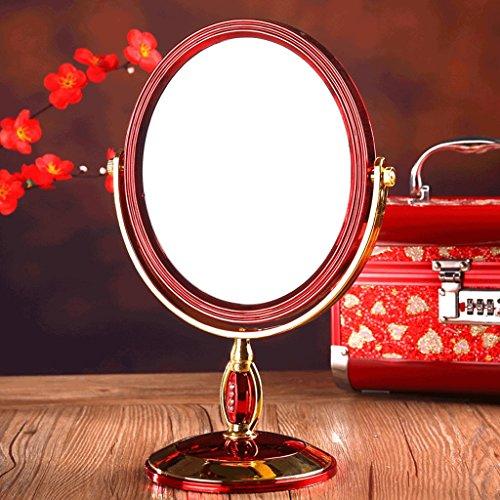 Maquillage Miroir De Bureau Double Face Portable Miroir Mariée Rouge Miroir De Mariage Miroir De Mariage Fournitures Ovale Double Miroir Divers Styles Xuan - worth having (Couleur : B)