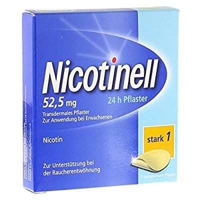NICOTINELL 1261984 52.5 mg 24-Hour Transdermal Nicotine Patches (Pack of 7) by EurimPharm Arzneimittel