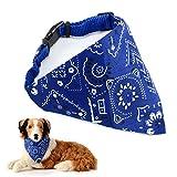 Vintage Hundehalstuch Dreieckstuch Hunde Halsband Katzenhalsband Haustier Tuch Rot/Gruen/Blau/Pink