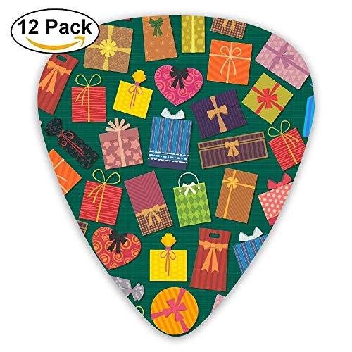 Geschenk-bunte Süßigkeits-Liebes-Karikatur-Gitarren-Auswahl 12pack Für E-Gitarre, Akustikgitarre, Mandoline und Bass