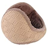 O-LIFE Winter Foldable Fleece Knit EarMuffs Large Thicken Full Surround Ear Warmers Size