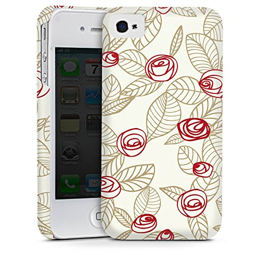Apple iPhone 6 Housse Étui Silicone Coque Protection Roses Roses Roses Cas Premium mat