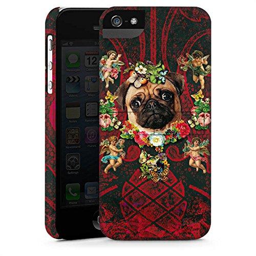 Apple iPhone X Silikon Hülle Case Schutzhülle Mopsi Engel Blumen Mops Hund Premium Case StandUp
