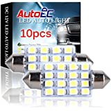 AutoEC Interior Festoon LED Light - 42mm-3528/1210-16 SMD-6000k - w5w Used for Car Dome and Reading Light