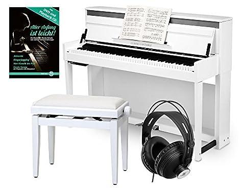 Classic Cantabile UP-1 WM E-Piano Deluxe Set (inklusive Pianobank, Kopfhörer