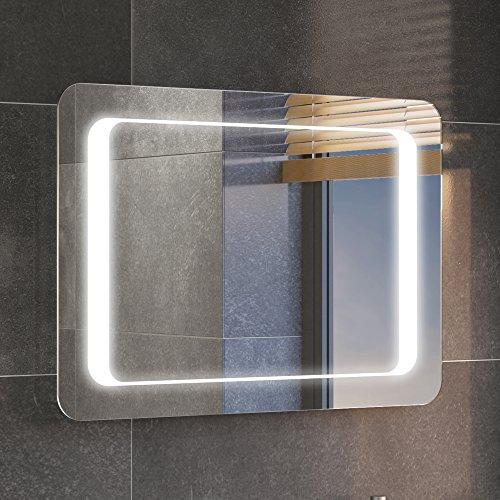 iBathUK 700 x 500 mm Illuminated LED Bathroom Mirror Light with Sensor   Demister ML2111