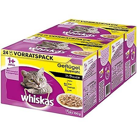 whiskas Fleisch und Fisch Frischesäckchen in Sauce, für Katzen