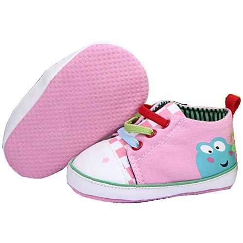 xhorizon®  Baby Mädchen Kleinkind Frosch Modelle Sportschuhe, Pink, 6-12 monate