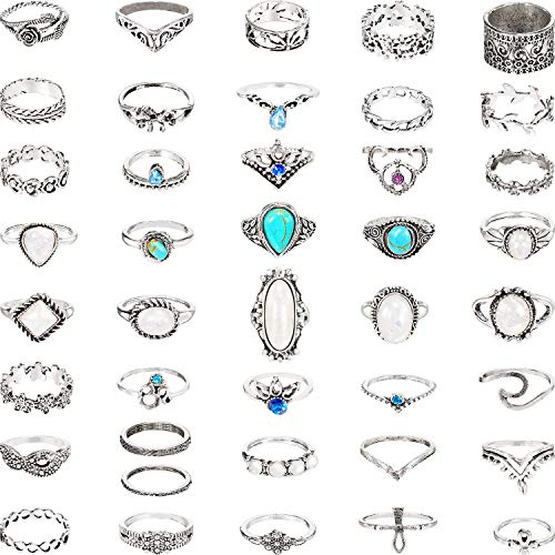 41 Pieces Vintage Knuckle Ring S...