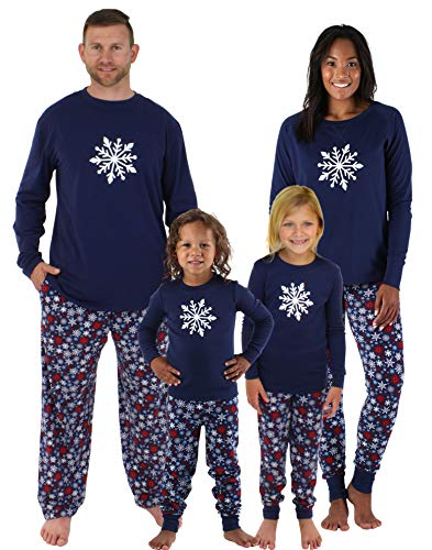Sleepyheads Kinder Schneeflocke Pyjama (SHM-4034-K-RIB-EU-5)