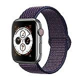 Corki pour Bracelet Apple Watch 38mm 40mm, Nylon Bracelet de Remplacement Bande pour Apple Watch iWatch Séries 4 (40mm), Séries 3/ Séries 2/ Séries 1 (38mm), Indigo