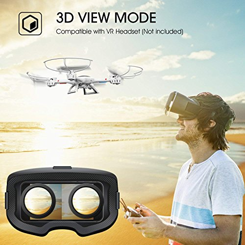 DBPOWER MJX X400W FPV Drohne mit WLAN Kamera Zurückkehrfunktion, Quadcopter mit Kopflosmodus für Kinder und Anfänger - 7