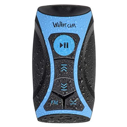 Reproductor de música MP3 Stream 100% Impermeable con Radio FM y Auriculares subacuáticos para Nadar, Deportes acuáticos, Cable Corto, 8 GB - por Walkercam