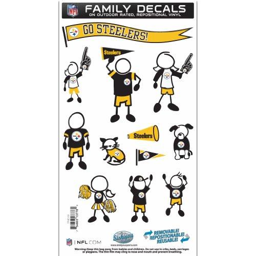 Siskiyou NFL Pittsburgh Steelers Familie Aufkleber Set Medium