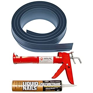 Auto Care Products Inc 51010 10-Feet Tsunami Seal Garage Door Threshold Seal Kit, Gray by Auto Care Products Inc.