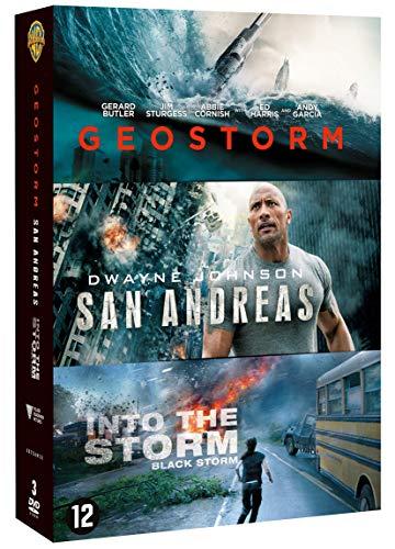 Coffret catastrophes naturelles 3 films : geostorm ; san andreas ; blackstorm [FR Import]