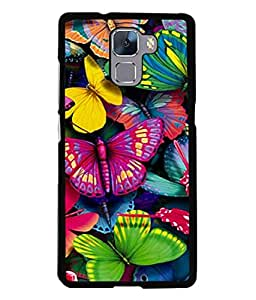PrintVisa Designer Back Case Cover for Huawei Honor 7 :: Huawei Honor 7 (Enhanced Edition) :: Huawei Honor 7 Dual SIM (Artistic Design Of Colourful Butterflies)