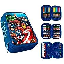 Los Vengadores Plumier 3 Cremalleras Avengers PVC Patch+Clamshell Color 0 AST1775
