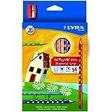 Lyra Groove Slim - Estuche 36 lápices de colores y mina de 3.3 mm diámetro y sacapuntas