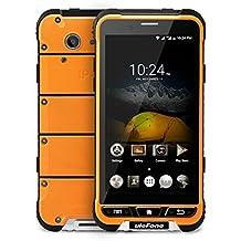 Ulefone Armor - 4G Smartphone Libre Android 6.0 con NFC (Waterproof, Batería 3500mAh, Amplia segura temperatura, SOS Key, HD Pantalla 4.7'' IPS, MT6753 Quad Core 1.3 GHz, 3G Ram, 32G Rom, Dual Sim, Bluetooth 4.0 GPS WIFI OTG Multi-Idioma) (Naranja)