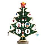 Tinksky Miniatur Weihnachtsbaum Tischplatte Tischdekoration Weihnachtsschmuck Holz Mini Weihnachtsbaum Kinder Kinder Geschenk 30CM (grün)