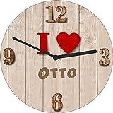Ann Susan Wanduhr bedruckt mit I Love Otto oder Ihrem persönlichen Wunschtext