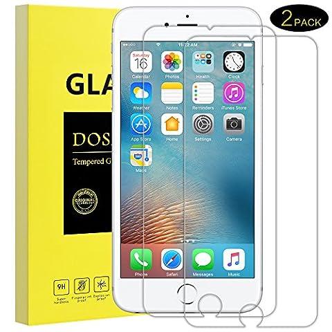 Panzerglas Schutzfolie für iPhone 6 6S-DOSMUNG Panzerglasfolie für iPhone 6 6s, 2 Stück, 3D Touch Kompatible, 9H Härtegrad, Schutz vor Wasser, Staub, Kratzern, Displayschutzfolie für iPhone 6 (Glas Iphone)