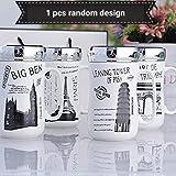Satyam Kraft (1 Piece) City Designer Ceramic Coffee Mugs With Mirror Lid- 400 Ml, Gift For Diwali/Wedding/Friend/Birthday