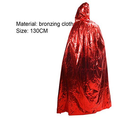 Wizard Red Kostüm Robe - cosplay Halloween Kostüm Für Erwachsene Death Cloak Performance Kostüm Schwarz Wizard Robe Cloak Vampire Red-130CM