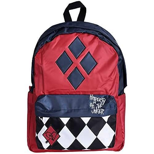Harley Quinn mochila Propiedad de Joker 42,5x32x11,5cm DC Comics rojo azul