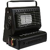 Calefactor portátil de gas para acampar o pesca al aire libre. Botellas de gas butano
