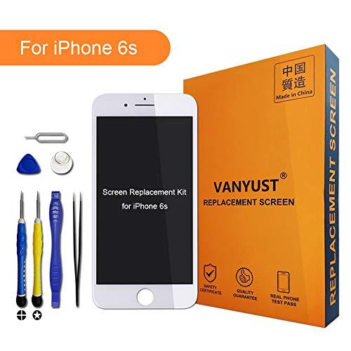 VANYUST LCD Display Compatible Für iPhone 6s, LCD Display Touchscreen Digitizer Assembly mit Werkzeug für iPhone 6s Weiß -