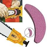 Afilador de dientes para motosierra, piedra portátil, herramienta de afilado rápido para jardín multicolor