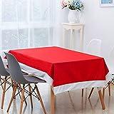 DKEyinx Rechteck rot Santa Christmas Tischdecke Hochzeit Bankett Tischdekoration Dekor, Vliesstoffe Red