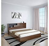 @home by Nilkamal Borden Queen Size Bed with Storage (Black)