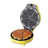 Machines à gaufres, 5-des-cœurs Machines à gaufres et croques Ménage Automatique Multifonction Plaques antiadhésives Machine à muffins-jaune 25x20x10cm(10x8x4inch)