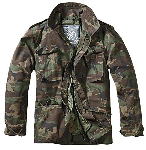 Brandit Herren Jacke M-65 Feldjacke Classic, Mehrfarbig (Woodland 10), XXXX-Large (Woodland Parka Hooded)