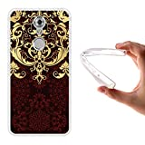 ZTE Axon 7 Mini Hülle, WoowCase Handyhülle Silikon für [ ZTE Axon 7 Mini ] Luxus Barockmuster Handytasche Handy Cover Case Schutzhülle Flexible TPU - Transparent