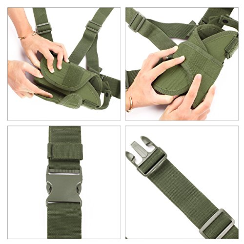 Large Tactical Drop Leg Holster /& PISTOL POUCH AIRSOFT ARMÉE Camouflage MFH 30711 V