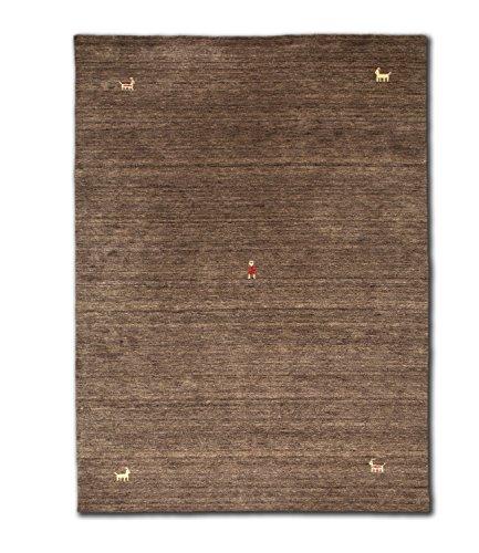 Morgenland Gabbeh SAHARA Teppich Braun Einfarbig Tier Handgewebt Schurwolle 300 x 200 cm