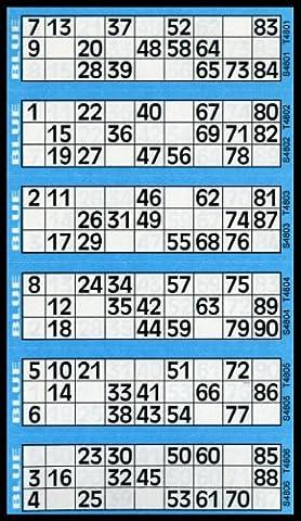 Bingo House Carnet de 600tickets de bingo Bleu