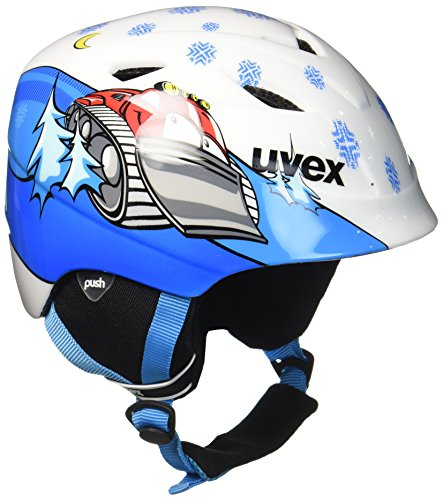 Uvex Kinder Airwing 2 Skihelm, White Caterpillar, 48-52 cm