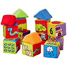Melissa & Doug Match & Build Soft Blocks (Developmental Toys, Multiple Activities, Lightweight Pieces, Develops Multiple Skills, 17 Pieces)