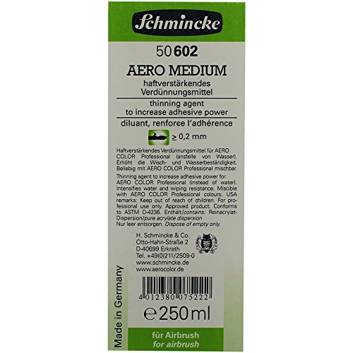 Schmincke Aero Medium 50 602 Airbrush Verdünnungsmittel 250ml für Airbrushfarben Hilfsmittel -